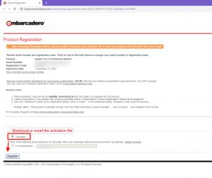 Скачать файл лицензии для Delphi при ошибке регистрации