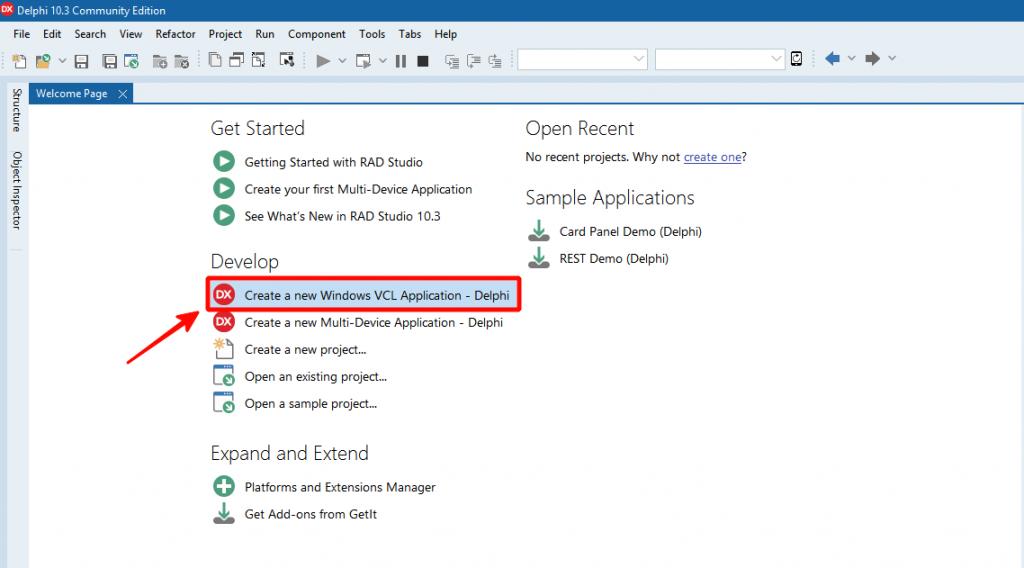 Создать Windows приложение