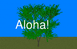 3D-дерево с текстом